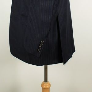 Hickey Freeman Suits & Blazers - Hickey Freeman 40R 34x32 Pleat Navy Suit 97-J